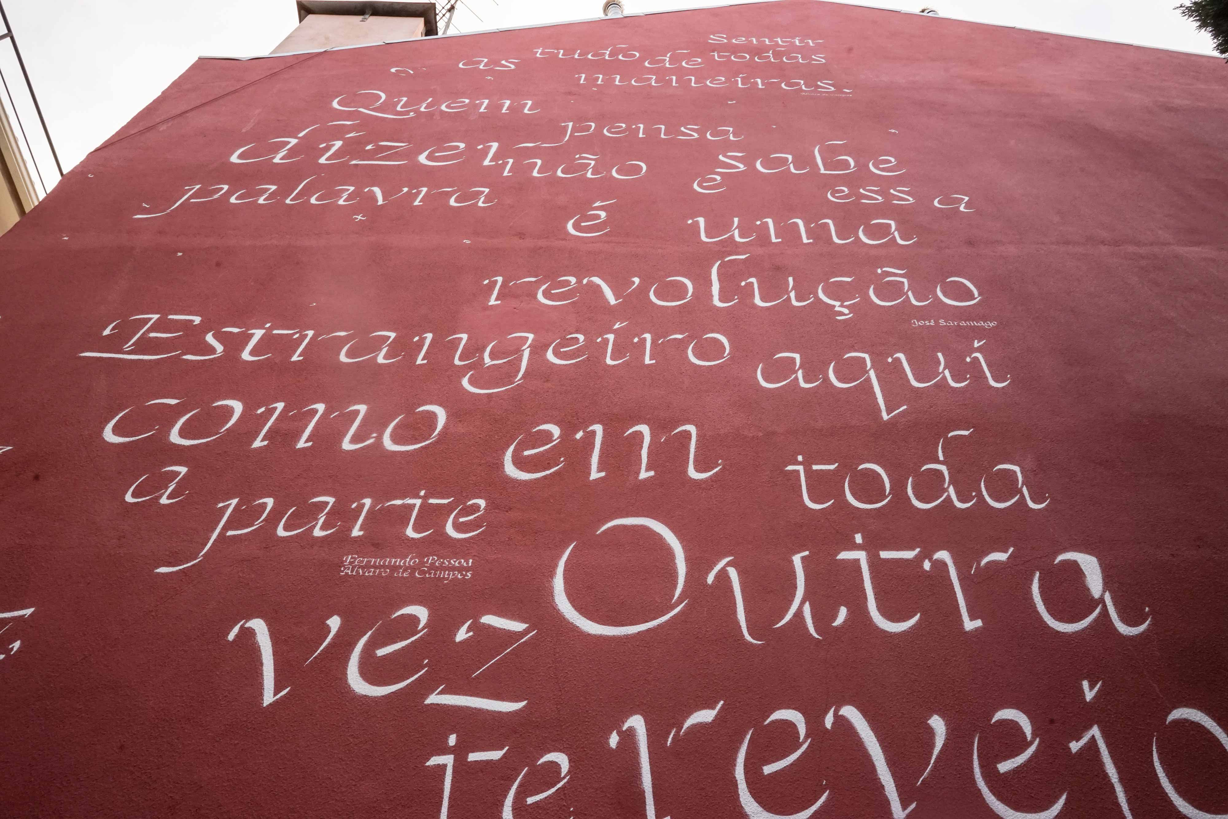 To Pessoa and Saramago: a poetry homage by Opiemme in Lisbon, Portugal. Artes & contextos Opiemme4