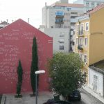 To Pessoa and Saramago: a poetry homage by Opiemme in Lisbon, Portugal.