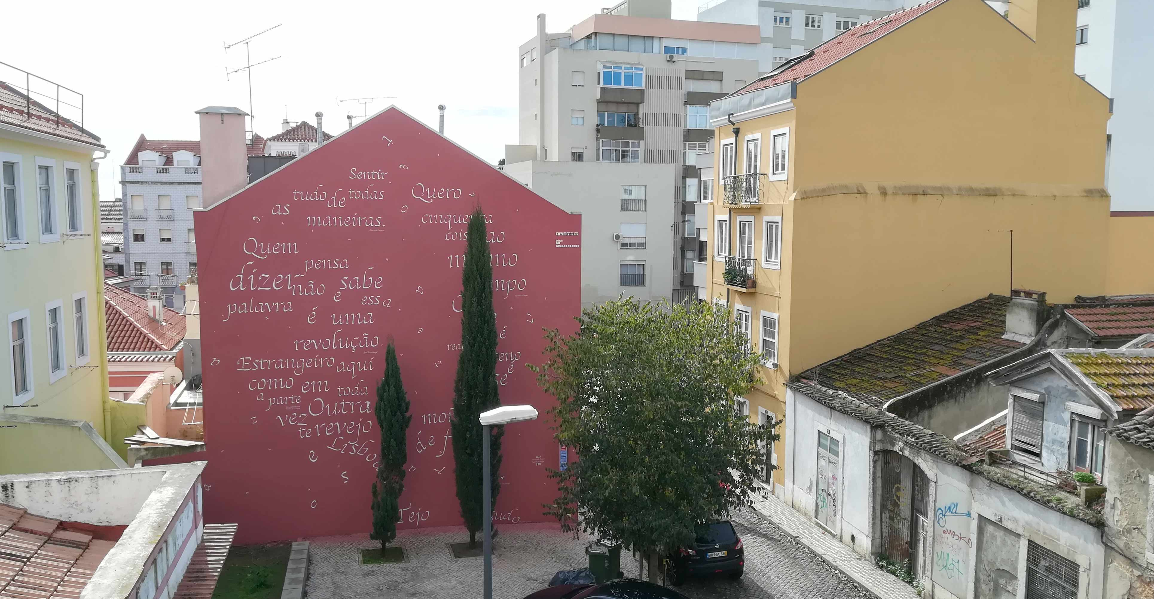To Pessoa and Saramago: a poetry homage by Opiemme in Lisbon, Portugal. Artes & contextos opiemmeheader