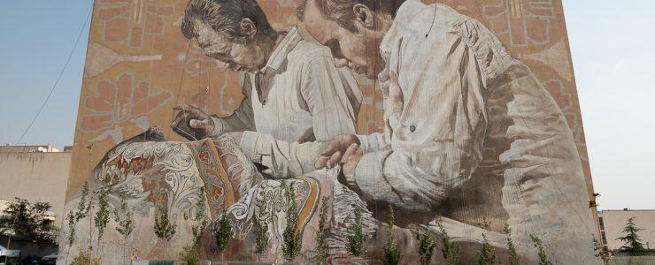 Fintan Magee & Guido Van Helten in Tehran, Iran