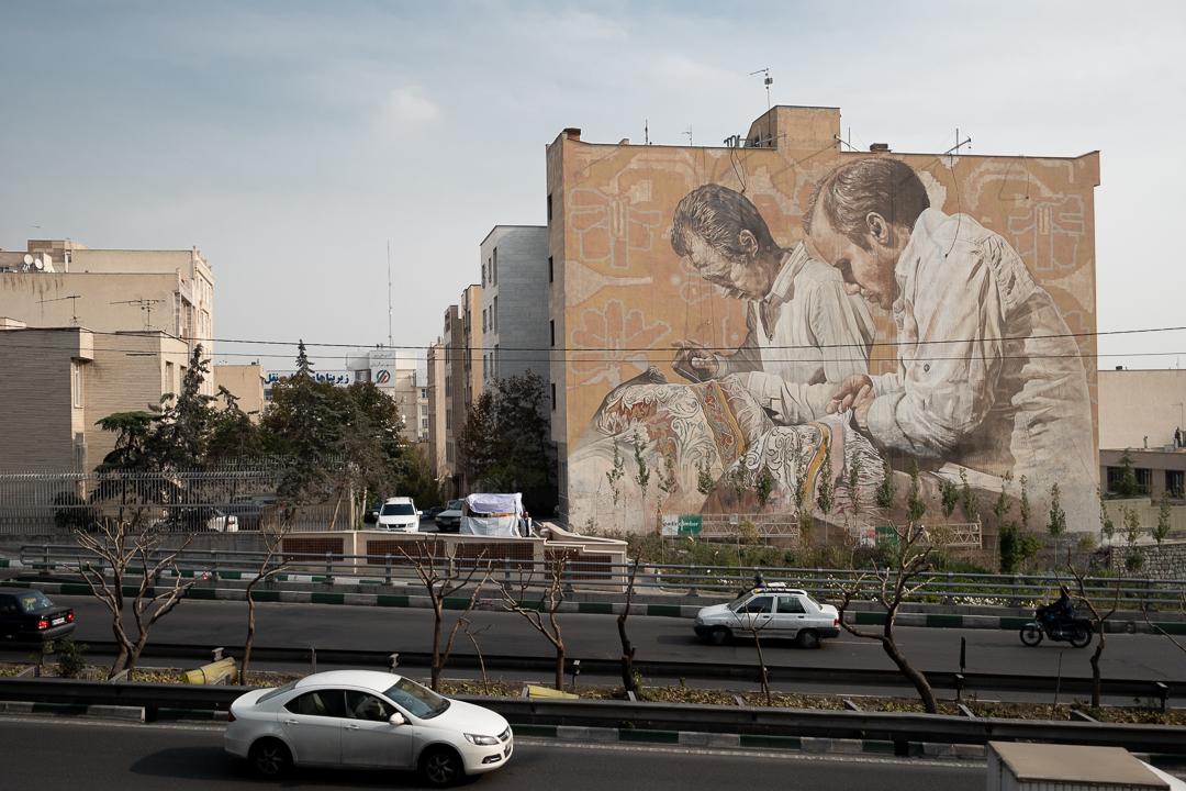Fintan Magee & Guido Van Helten in Tehran, Iran Artes & contextos TehranGVH Instagram 2706