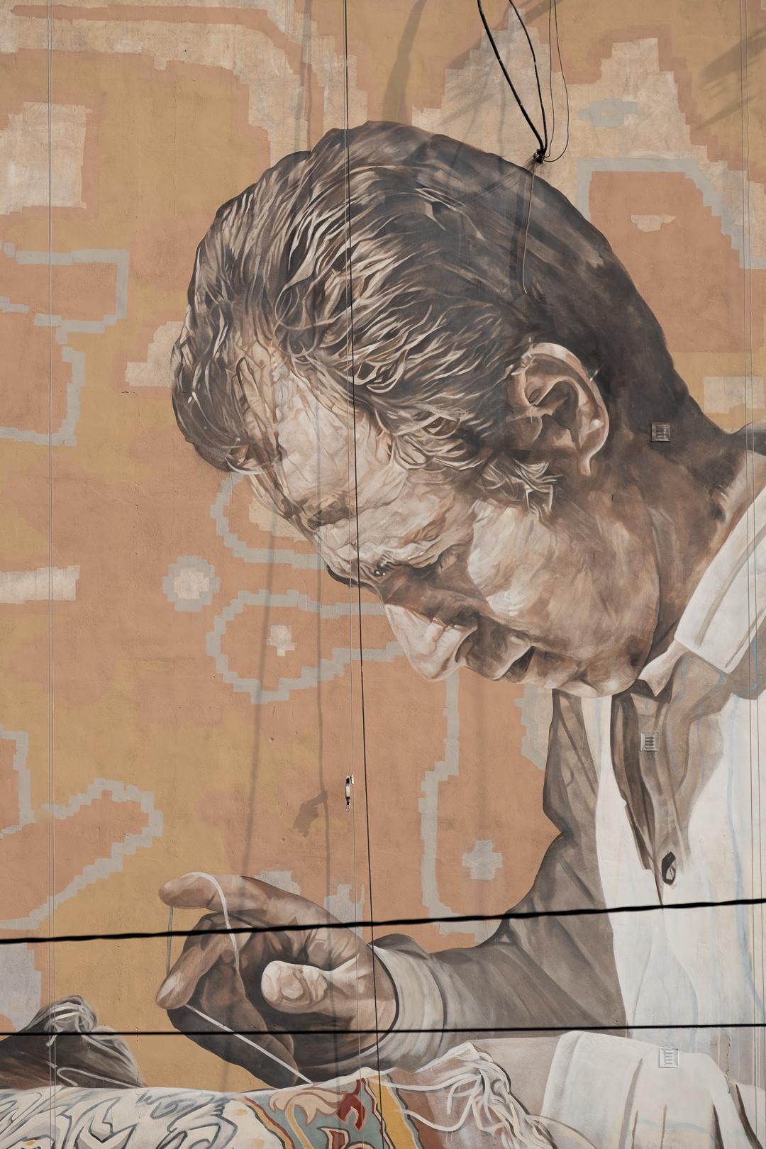 Fintan Magee & Guido Van Helten in Tehran, Iran Artes & contextos TehranGVH Instagram 2735 2