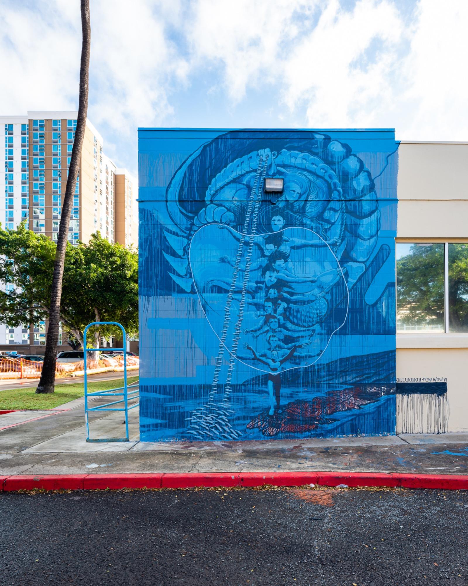 Recap: POW! WOW! Hawaii 2019 Artes & contextos pwh2019 KaiKaulukukui bshigeta
