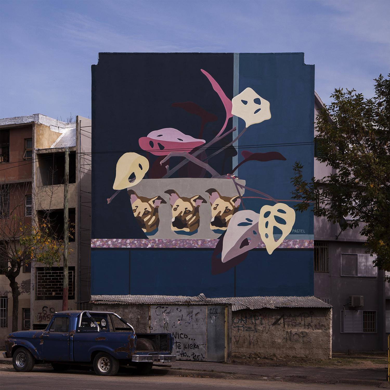"""Hogar"" by Pastel a new New wall in Santa Fe, Argentina"