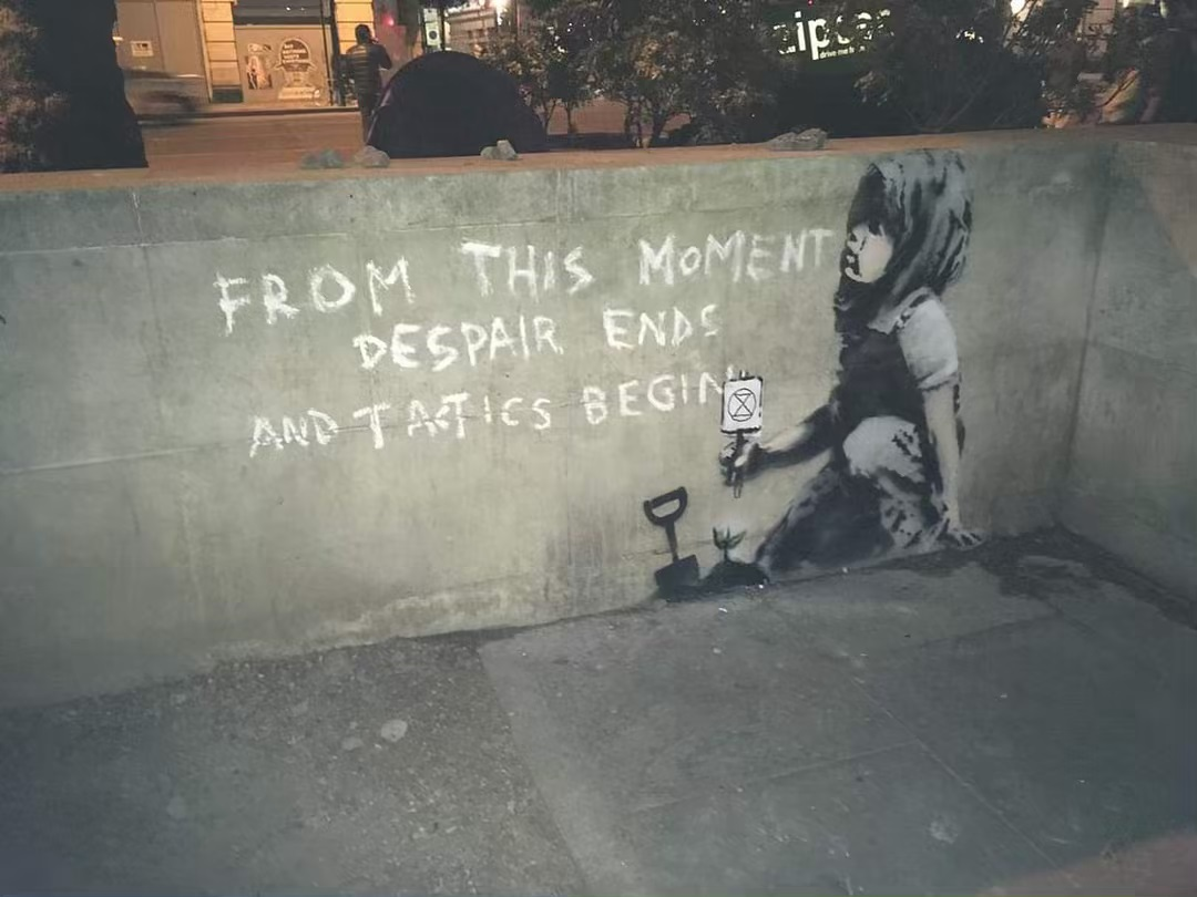 Quot Despair Ends Quot By Banksy In Marble Arch London