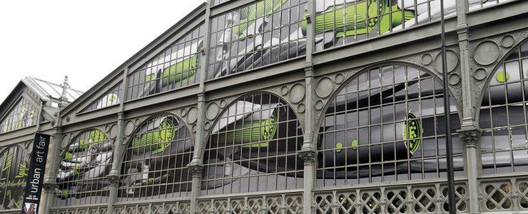 Ludo creates a large installation at Carreau du Temple in Paris