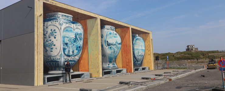 Leon Keer creates a mind-boggling mural for The Crystal Ship
