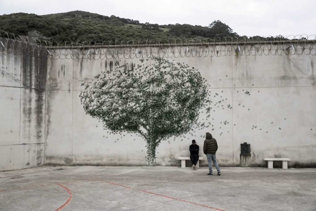 """Gold Mine"" a Prison project by Pejac in Spain"