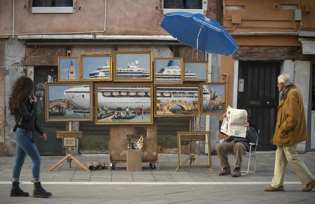 Banksy's street stall in Venice, Italy