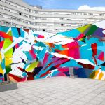 Arnaud Liard creates a vibrant mural in Paris, France