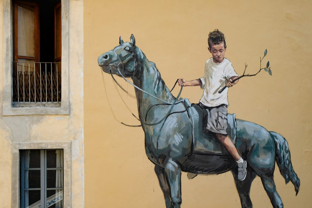 Ernest Zacharevic New Wall in Turin, Italy