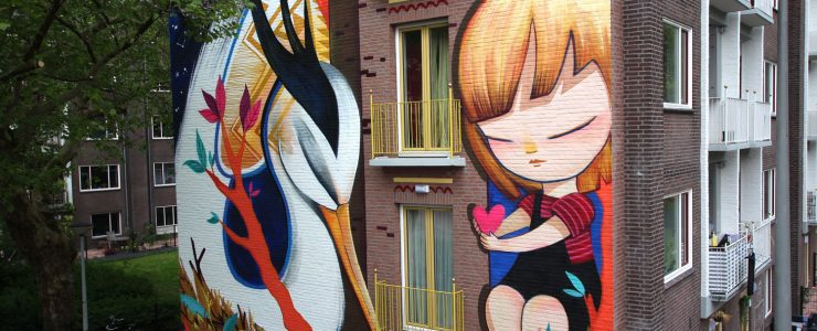 Julieta XLF new wall in Amsterdam