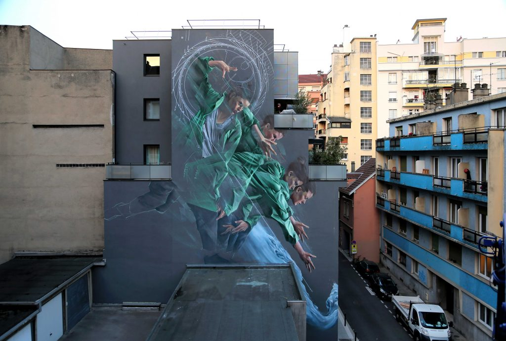 """Process of Acceleration"" by Li-Hill in Grenoble, France"
