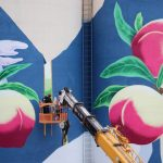 """The Peach Land"" New Mural From Zinan Lam in China"
