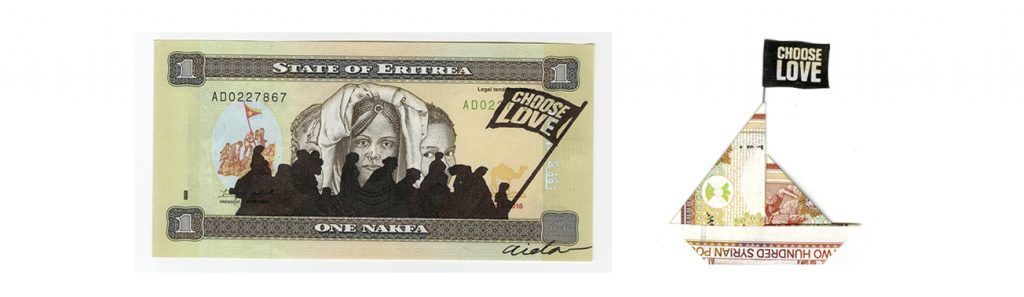 AIDA WILDE: TURNING REFUGEE BANKNOTES INTO ART FOR CHARITY