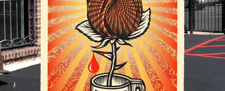 "Shepard Fairey ""Rose Shackle"" Print Release – August 13th"