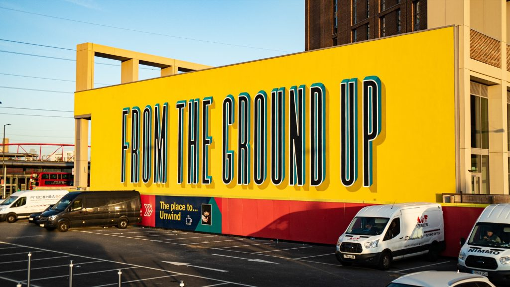 Gary Stranger Paints a 350m Square Mural in London