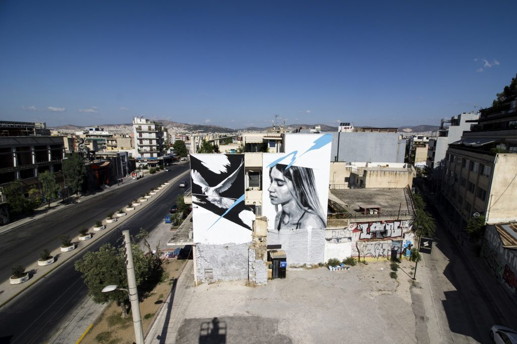 """Freedom for Sale"" by INO in Athens, Greece"