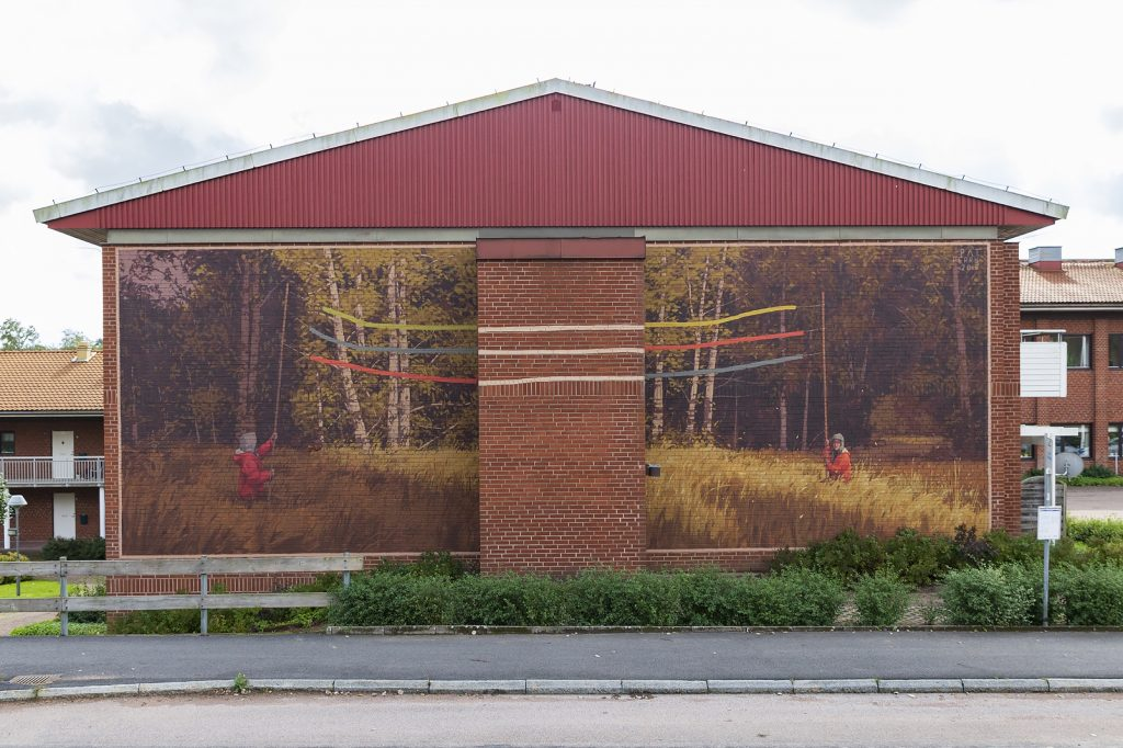 Pat Perry's first mural in Sweden