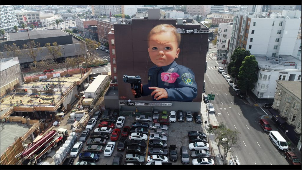 """Baby With A Handgun"" by BiP in San Francisco"