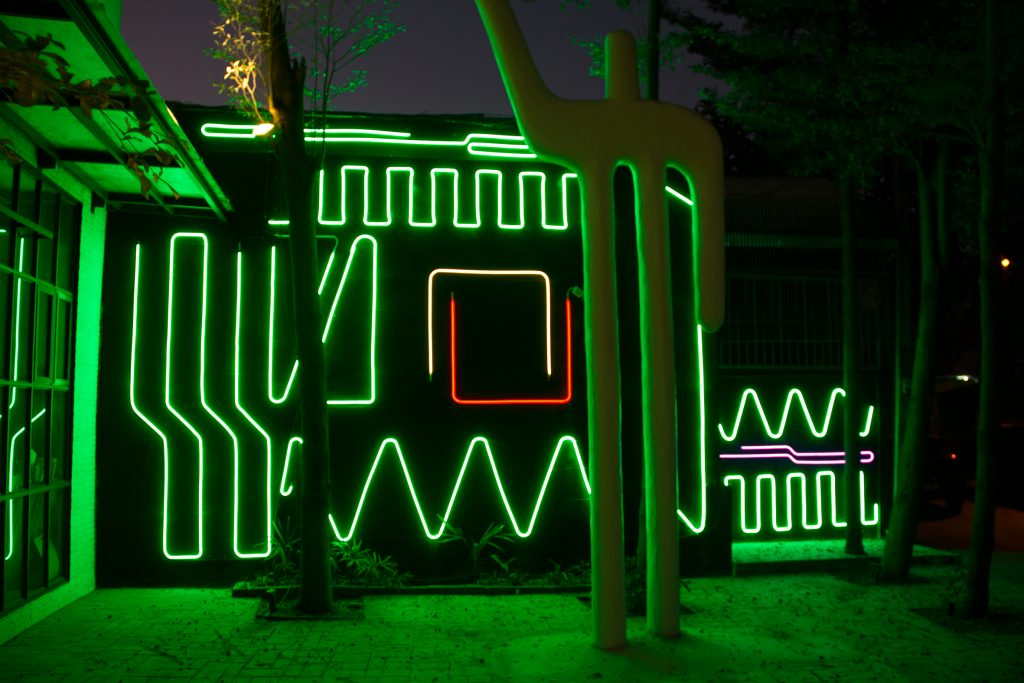 Interactive Neon Mural #7 by Spidertag in Chiang Mai, Thailand