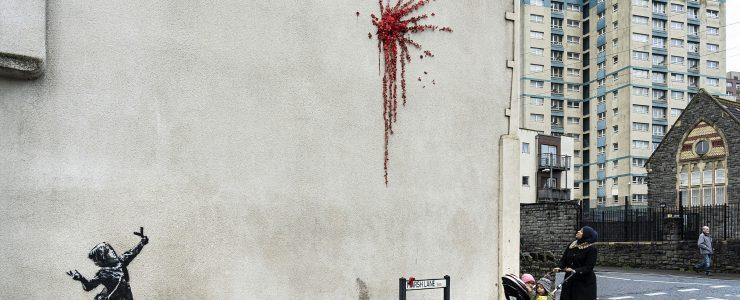 Banksy new street piece on Marsh Lane, Bristol