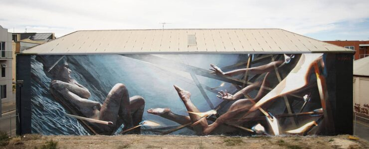 """Dive"" by Vesod in Port Adelaide, Australia"