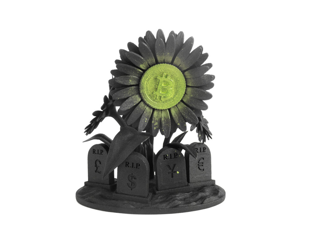 "Ludo ""BTC FlowerPower"" Limited Edition Sculpture"