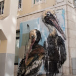 Pelicans by Bordalo II in Lisboa, Portugal