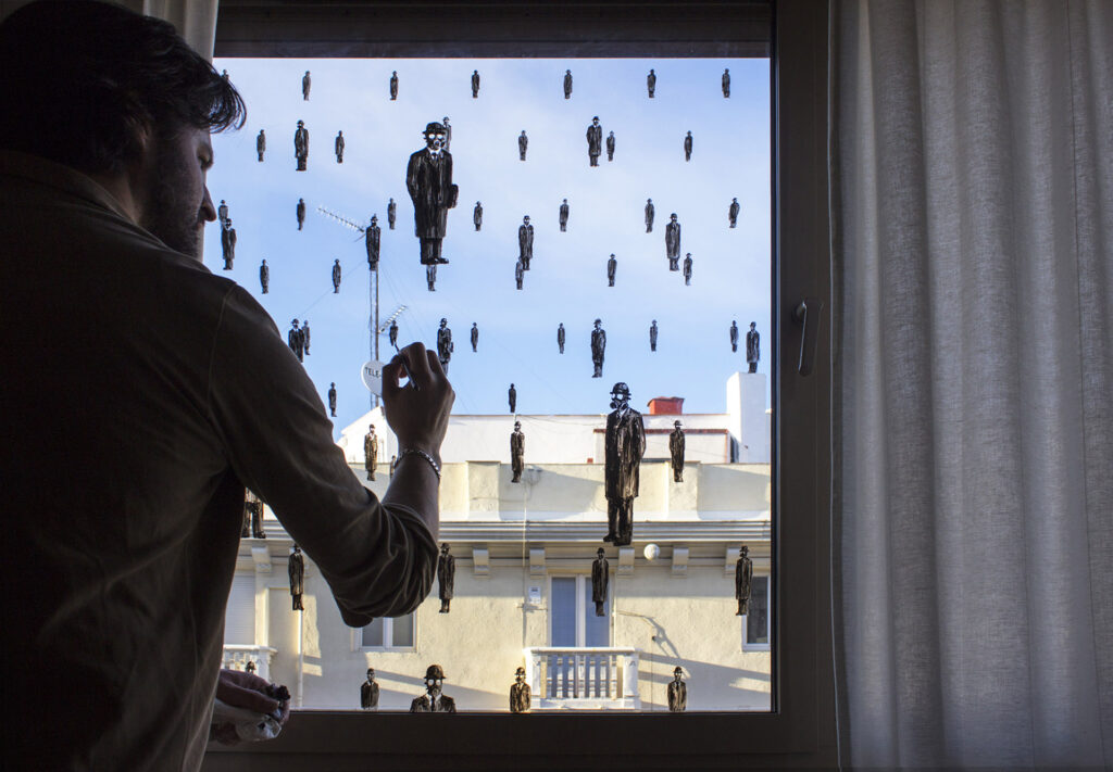 """""""It can't rain all the time"""" by Pejac in Madrid, Spain"""
