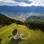 """BEYOND CRISIS"" by Saype in Leysin, Switzerland"