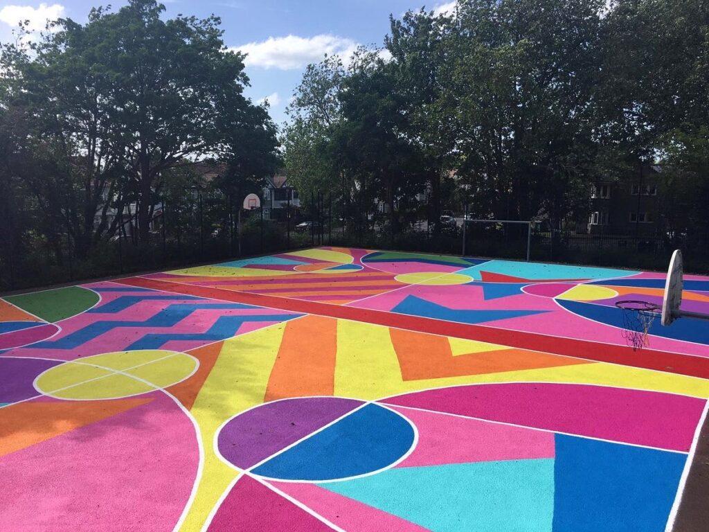 """Art Court"" by Wood Street Walls' artists in London"