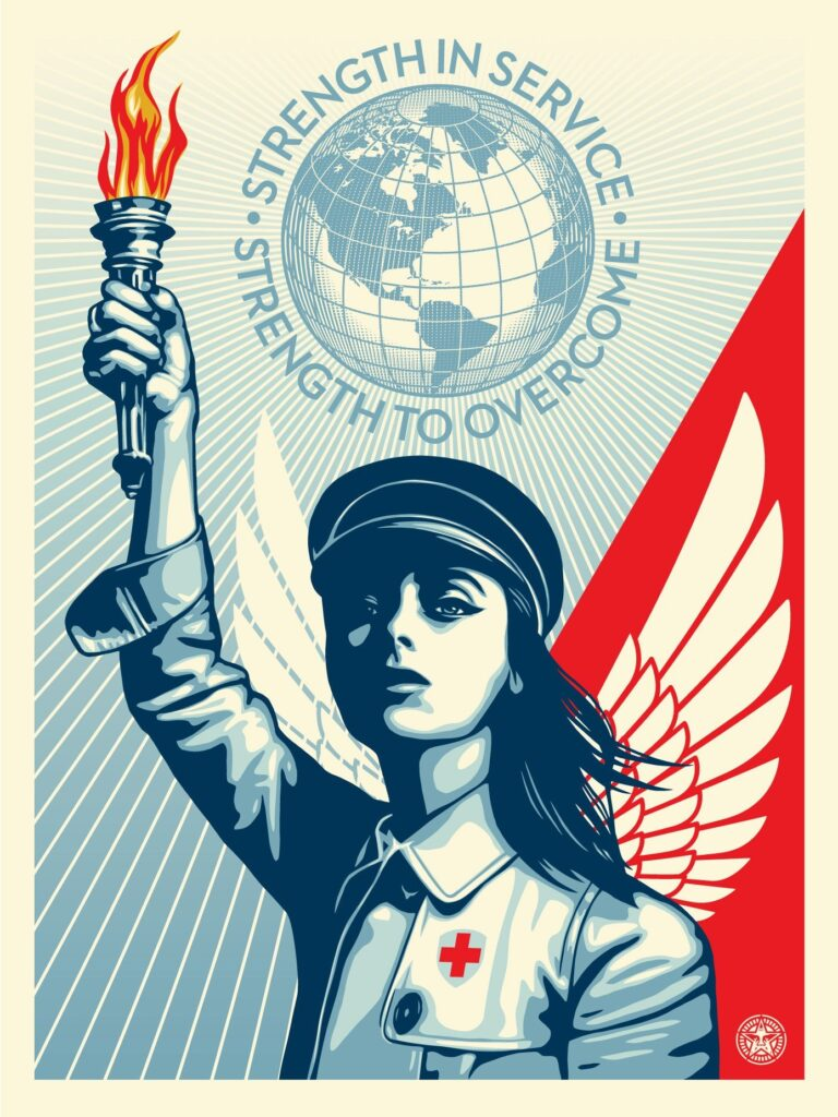 "Shepard Fairey ""Angel of Hope and Strength"" New Print Available Today"