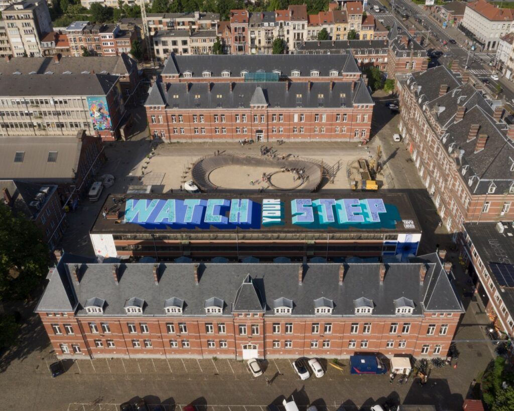 """""""Watch Your Step"""" by TAVU & LOUVES in Brussels, Belgium"""