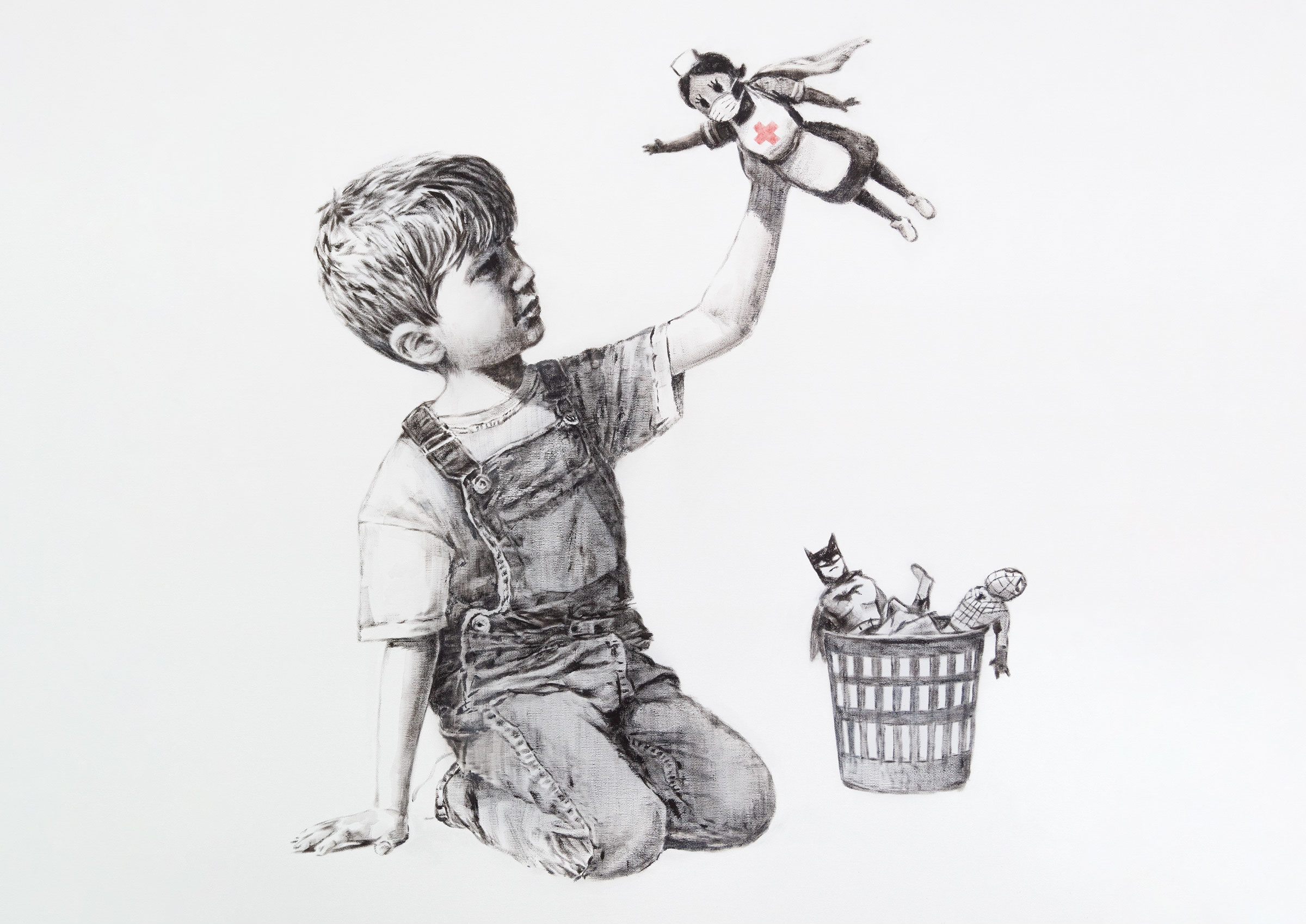 New Banksy artwork pays tribute to UK's NHS heroes