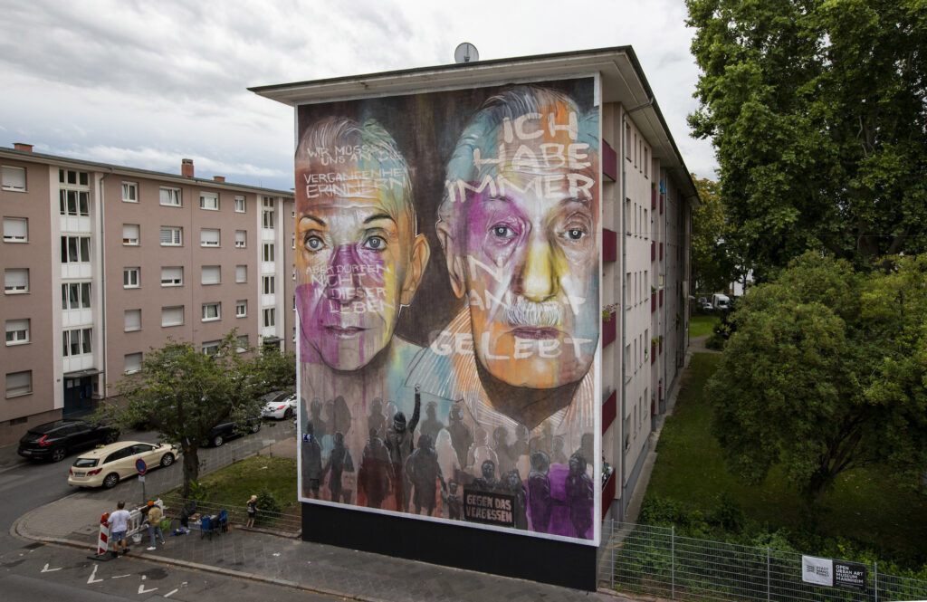 """LEST WE FORGET"" by AKUT in Mannheim, Germany"