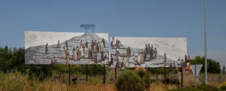 """""""Insurrecta"""" by Gonzalo Borondo in Segovia, Spain"""