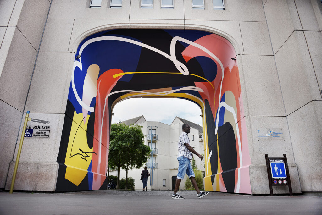 Blo new mural for Rouen Impressionnee Festival, France