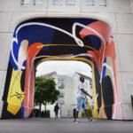 Blo new mural for Rouen Impressionnee Festival, France