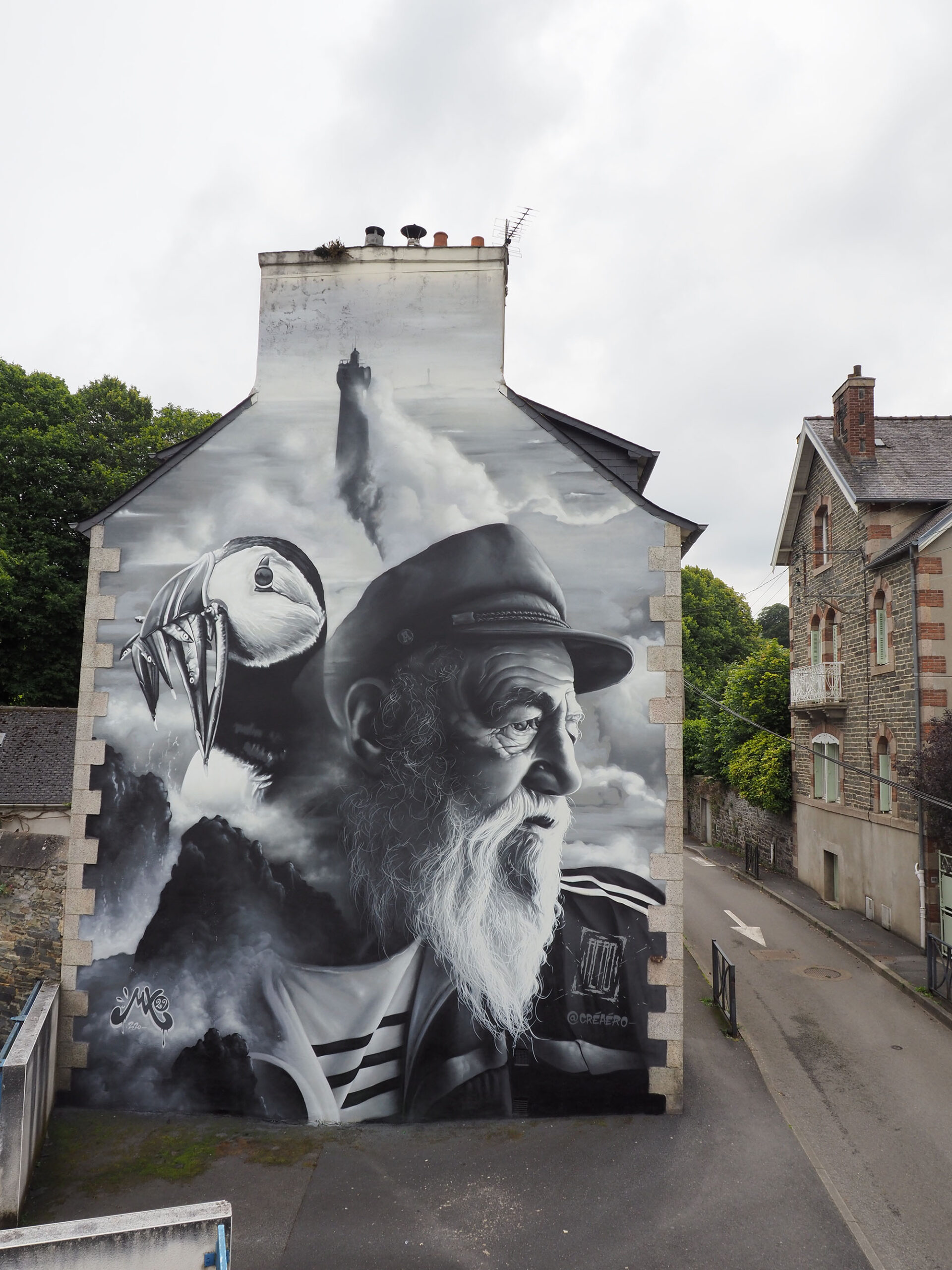 """""""The Old Man and the Sea 2.0"""" by AERO in Morlaix, France 