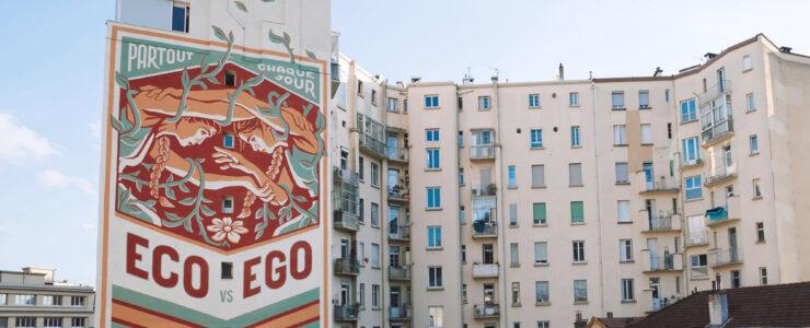 """""""Eco Vs Ego"""" by Reskate in Grenoble, France"""