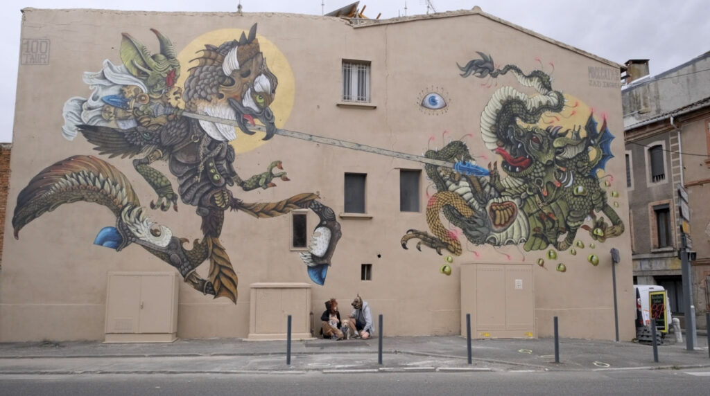 """ROGER DELIVRANT ANGELIQUE"" by 100taur in Montauban, France"