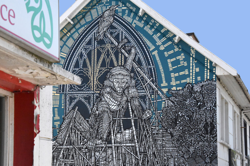 """""""L'échassier"""" by MonkeyBird in Boulogne, France"""