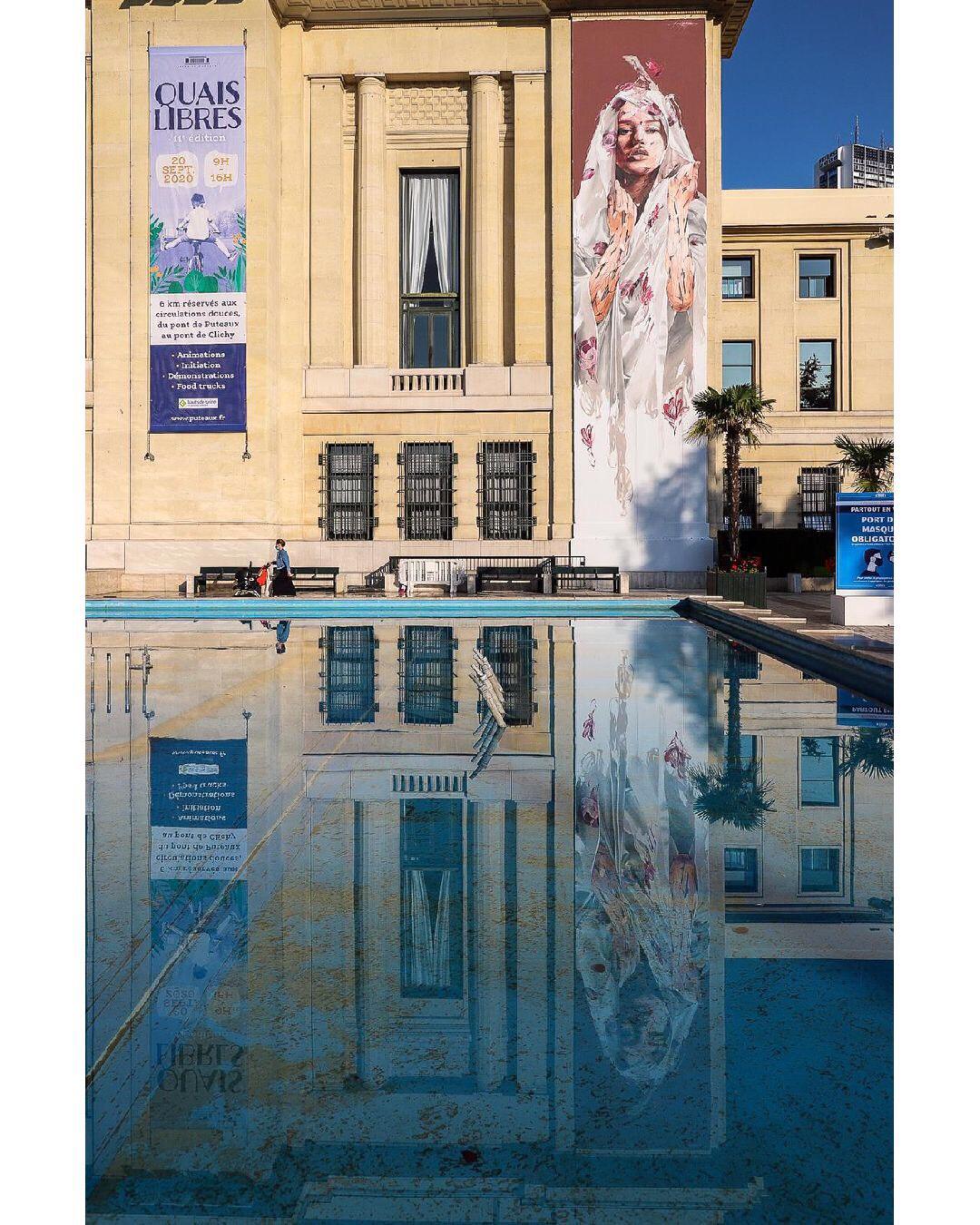 A Virgem e o Menino, de Hopare -10ª edição do Festival de Arte Urbana em Ville de Puteaux