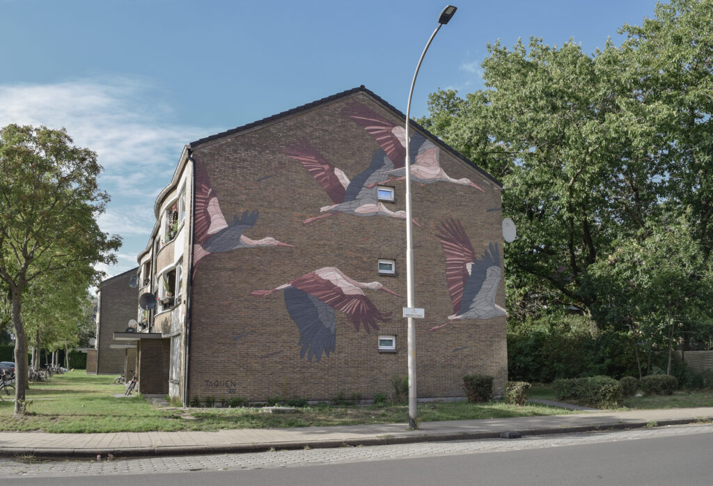 """Comes and Goes"" by Taquen in Ghent, Belgium"