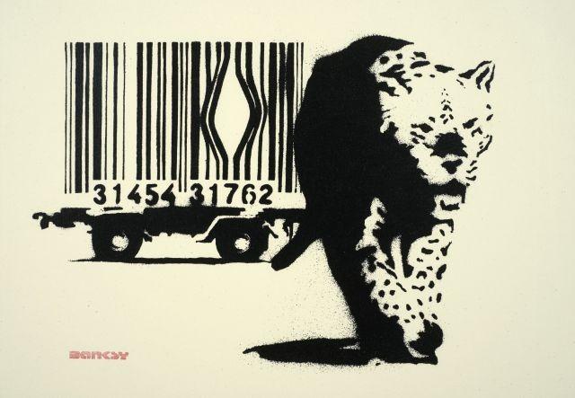 Descobrindo Banksy – Parte 2 Artes & contextos Barcode Leopard 2004