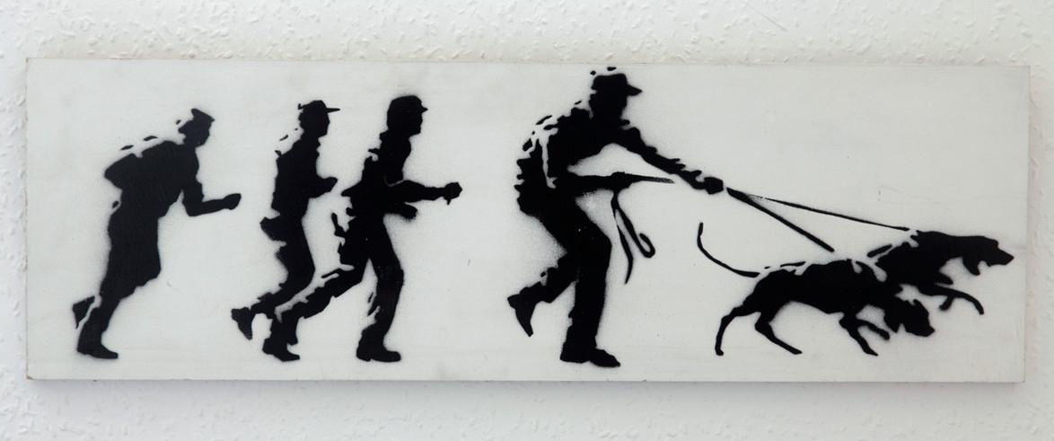 Descobrindo Banksy – Parte 2 Artes & contextos Early painting for 10.00 1998
