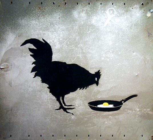 Descobrindo Banksy – Parte 2 Artes & contextos Painting on metal 2006