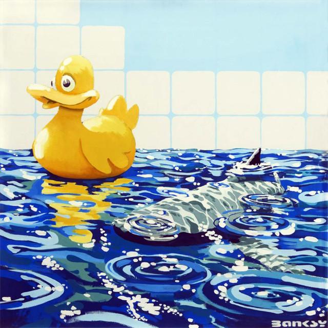 Descobrindo Banksy – Parte 2 Artes & contextos Rubber Ducky on canvas 2006