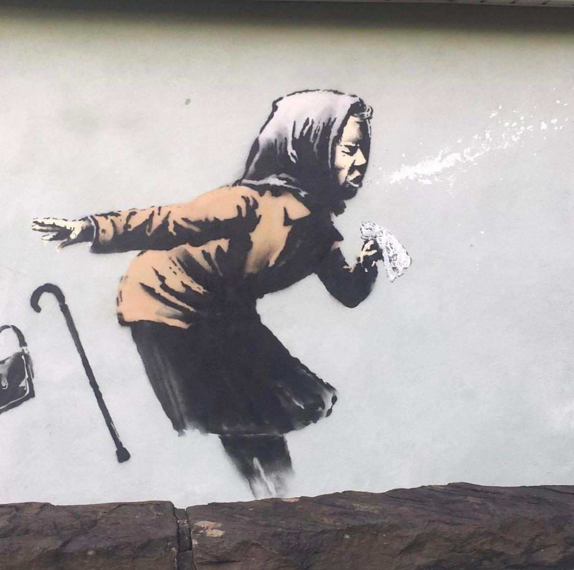 Bansky confirms he created 'Aachoo!!' artwork in Bristol